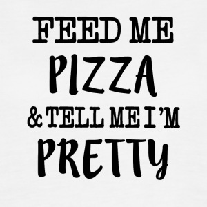 Feed Me Pizza and Tell Me I'm Pretty Funny saying  - Women's Flowy Muscle Tank by Bella