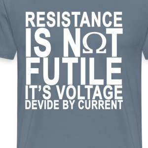resistance_is_not_futile_ - Men's Premium T-Shirt
