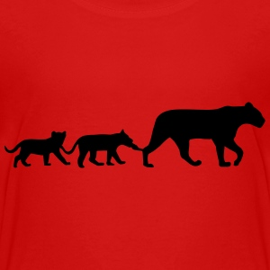 Lioness and lion cubs Kids' Shirts - Kids' Premium T-Shirt