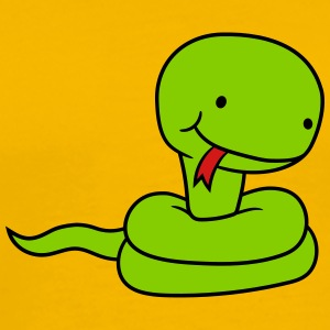 sweet little cute baby kawaii child snake comic ca T-Shirts - Men's Premium T-Shirt