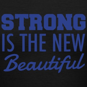 STRONG IS THE NEW BEAUTIFUL Women's T-Shirts - Women's V-Neck T-Shirt