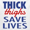 THICK THIGHS SAVE LIVES Baby Bodysuits - Long Sleeve Baby Bodysuit