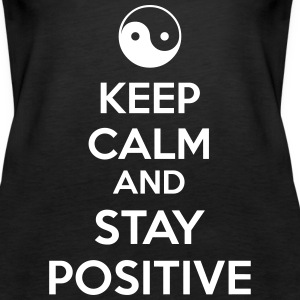 Keep Calm Ying Yang Tanks - Women's Premium Tank Top