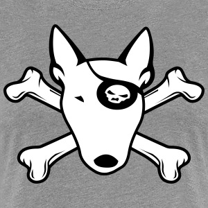 PIRATE Bull Terrier WHITE Women's T-Shirts - Women's Premium T-Shirt