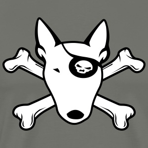 PIRATE Bull Terrier WHITE T-Shirts - Men's Premium T-Shirt