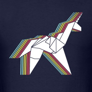 Origami Unicorn - Men's T-Shirt