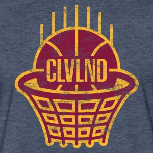 CLVLND Baller Vintage T-Shirt - Wine/Gold - Fitted Cotton/Poly T-Shirt by Next Level