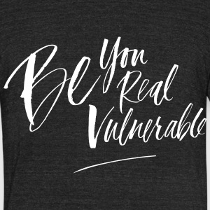 be vulnerableunisex tri blend - Unisex Tri-Blend T-Shirt by American Apparel