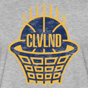 CLVLND Baller Vintage T-Shirt - Navy/Gold - Fitted Cotton/Poly T-Shirt by Next Level
