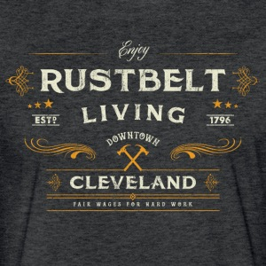 Rustbelt Tri-Blend Vintage T-Shirt - Fitted Cotton/Poly T-Shirt by Next Level
