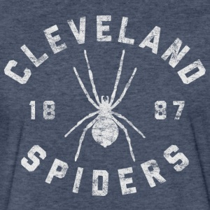 Cleveland Spiders Vintage Tee White Print - Fitted Cotton/Poly T-Shirt by Next Level