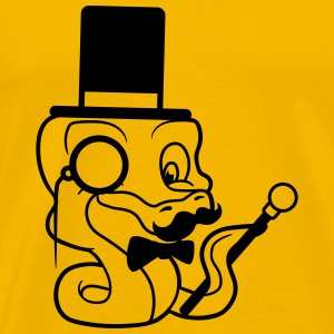 fly stock sir mr mustache mustache hat cylinder ge T-Shirts - Men's Premium T-Shirt