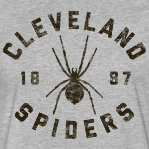 Cleveland Spiders Vintage Tee Black Print - Fitted Cotton/Poly T-Shirt by Next Level