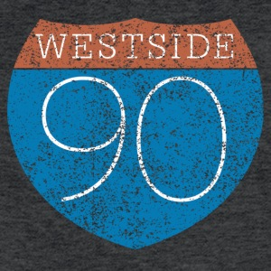 90 WESTSIDE Tee - Fitted Cotton/Poly T-Shirt by Next Level