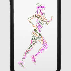 Jogging girl iPhone Cases - iPhone 6/6s Rubber Case