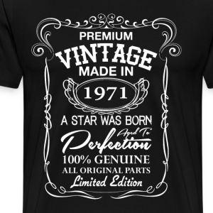 vintage made in 1971 T-Shirts - Men's Premium T-Shirt
