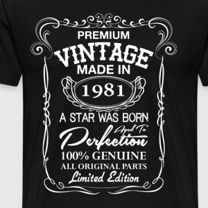 vintage made in 1981 T-Shirts - Men's Premium T-Shirt