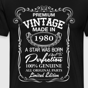 vintage made in 1980 T-Shirts - Men's Premium T-Shirt