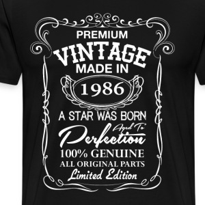 vintage made in 1986 T-Shirts - Men's Premium T-Shirt