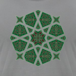 Egyptian arabic geometric tile in brown and grey T-Shirts - Men's T-Shirt by American Apparel