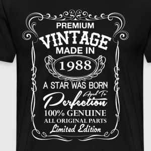 vintage made in 1988 T-Shirts - Men's Premium T-Shirt