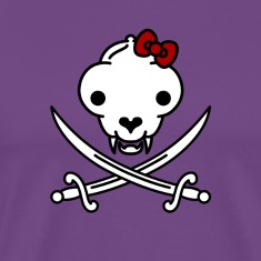 Jolly Kitty Pirate Skull and Bones T-Shirts