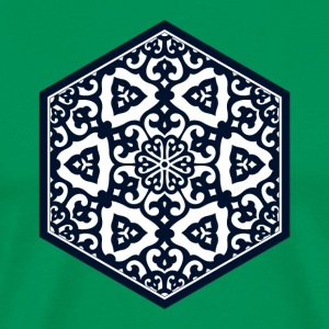 Ottoman turkish blue ware tracery design T-Shirts - Men's Premium T-Shirt