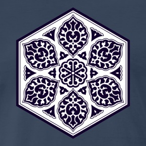 Ottoman turkish blue ware rosette design T-Shirts - Men's Premium T-Shirt