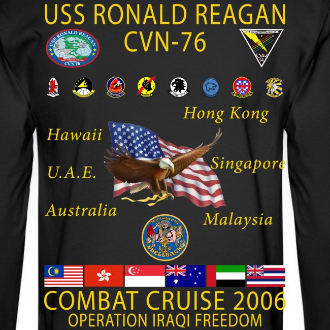 USS RONALD REAGAN 2006 CRUISE SHIRT - LONG SLEEVE