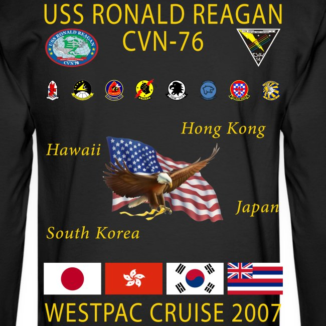 USS RONALD REAGAN 2007 CRUISE SHIRT - LONG SLEEVE