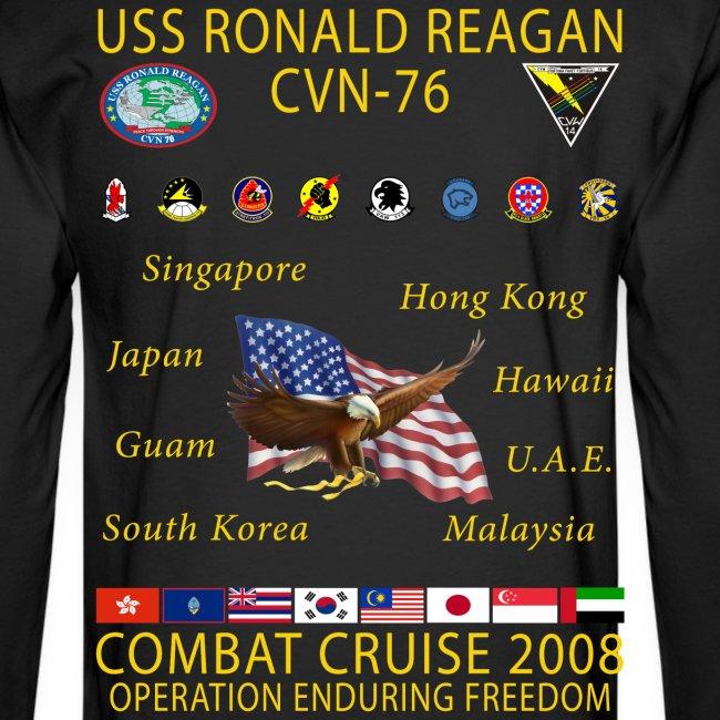 USS RONALD REAGAN 2008 CRUISE SHIRT - LONG SLEEVE