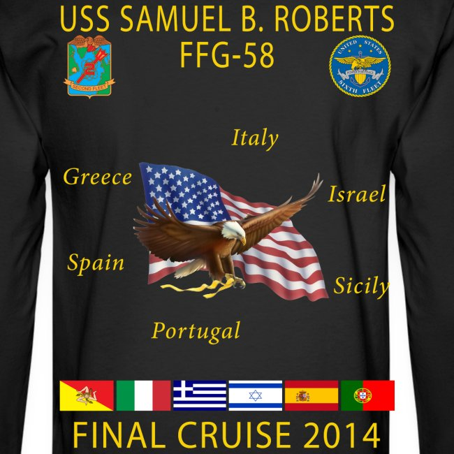 USS SAMUEL B ROBERTS FINAL CRUISE SHIRT - LONG SLEEVE