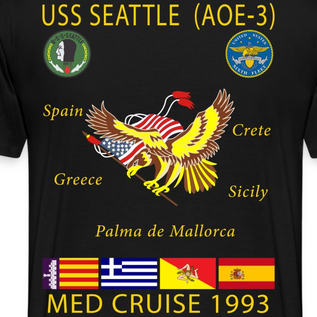 USS SEATTLE 1993 CRUISE SHIRT