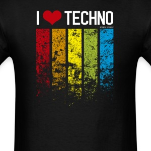 I Heart Techno T-Shirts - Men's T-Shirt