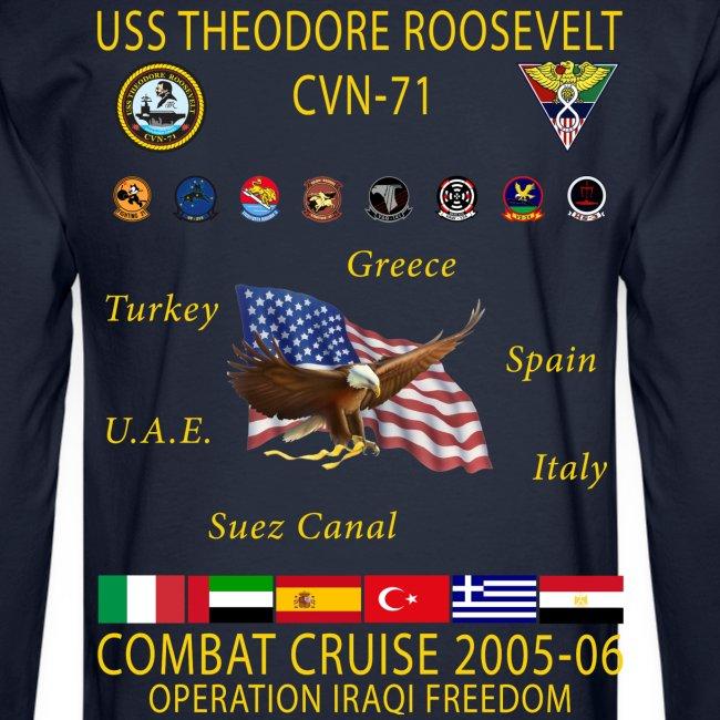 USS THEODORE ROOSEVELT 2005-06 CRUISE SHIRT - LONG SLEEVE