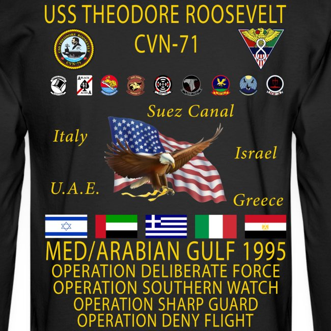 USS THEODORE ROOSEVELT 1995 CRUISE SHIRT - LONG SLEEVE