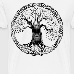TREE OF LIFE - evil eyes - Men's Premium T-Shirt