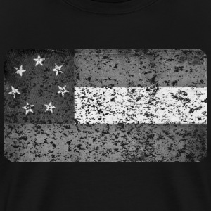 First Confederate Flag, Stars and Bars in black - Men's Premium T-Shirt