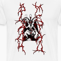 BAPHOMET BLACK METAL RED