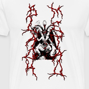 BAPHOMET BLACK METAL RED - Men's Premium T-Shirt