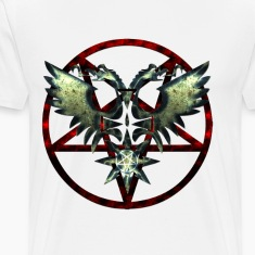 PENTAGRAM WITH EAGLE WINGS