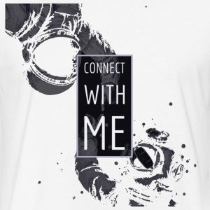 connect with me.png T-Shirts - Fitted Cotton/Poly T-Shirt by Next Level