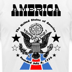 America—USA Founded July 4 1776 t-shirt   - Men's T-Shirt by American Apparel