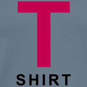 Letter T with word Shirt - Men's Premium T-Shirt
