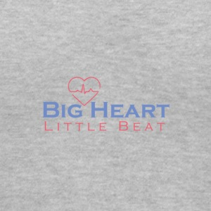 Big Heart Little Beat V Neck - Women's V-Neck T-Shirt