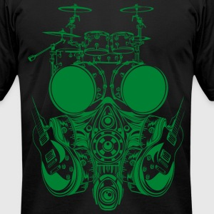 DRUMSET FACE SYMBOL - Men's T-Shirt by American Apparel
