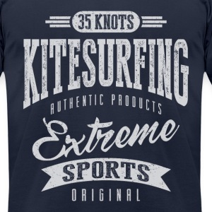 35 Knots Kitesurfing - Men's T-Shirt by American Apparel