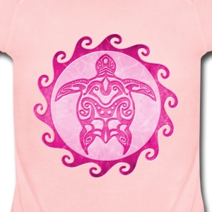 Pink Tribal Turtle - Short Sleeve Baby Bodysuit