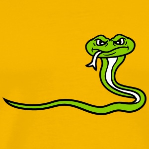angry dangerous comic cartoon snake T-Shirts - Men's Premium T-Shirt