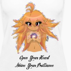 """Open Your Heart"" Womens Tanktop"